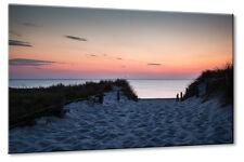 Leinwand Bild Leinwand Bild Ostsee Strand Strandweg Dünen Sonnuntergang Erholung