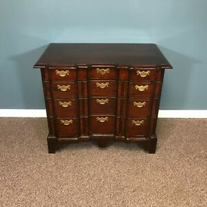 Bench Made Cherry 10 Drawer Block Front Bachler Chest