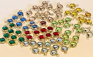 Open Bezel Austrian Crystal Beads Multicolor 7mm 72 Piece