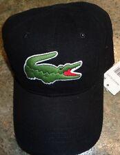 LACOSTE Mens Big Croc Gabardine Adjustable Cap Hat, PICK COLOR, Baseball Tennis