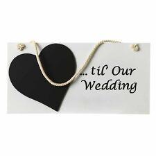 Wedding Countdown Sign - Wooden Shabby Chic Calendar Bride Gift Engagement