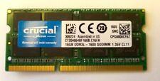Single Crucial 16GB DDR3 PC3L-12800 SODIMM Memory CT204864BF160B.C16FA *USED*