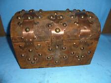 Kästchen Kork Schatztruhe 60er Jahre jewelery box cigar 18x17x26cm