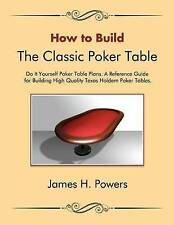 How to Build the Classic Poker Table Do it Yourself Poker Table Plans: A Referen