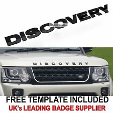 "Land rover ""DISCOVERY"" 3D Bonnet Letters Badge Letterings GLOSS BLACK 3 4 emblem"
