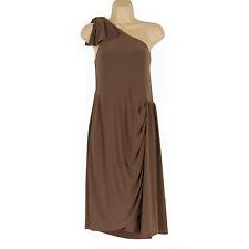 Oasis Polyester One Shoulder Sleeveless Dresses for Women