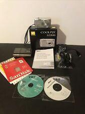 Nikon COOLPIX S3300 16.0 MP Camera - SILVER - W/Accessories IOB **MINT**