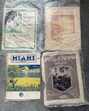 4 Lots of Old Antique Vintage Sheet Music - Fabulous Graphics