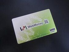 Online Games Webmoney 5000 point electronic digital JPN 5,000 japanese japan