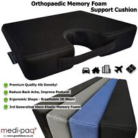 Memory Foam Wedge Cushion Car Seat, Office Chair Back and Coccyx Support