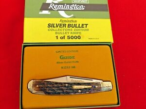 Remington USA bone R1253 SB lockback Guide silver bullet engraved knife MIB ld