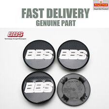 4x Genuine BBS Centre Caps Black Carbon 64.5mm BBS CH-R2 SR