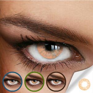 Jahres Farbige Kontaktlinsen NATURALLY SWEET HAZEL - (+/- 0.00 ohne Dioptrien)