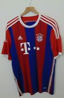 Adidas Men S FC Bayern Munich Soccer Jersey Striped Blue Red Authentic Football