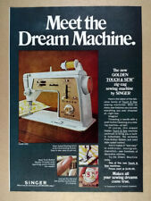"""3 Vintage 1970 Singer Sewing Machine Advertising Tokens """"The Golden Touch /& Sew"""""""