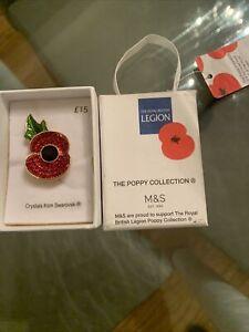 m & S Poppy Red  Badge.