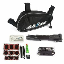 Cycling Bike Bicycle Tire Tyre Multi-use Repair Patch Tools Kit Bag Black Pump
