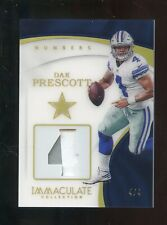 2017 Immaculate Acetate Numbers Dak Prescott Patch 4/4 Dallas Cowboys