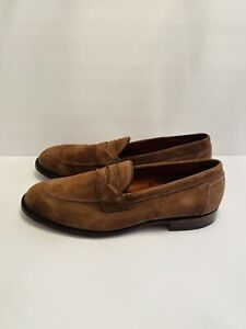 ALDEN handsewn penny loafers snuff suede 96917 MADE IN USA 11.5 B/D