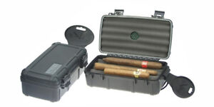 HUMIDOR UMIDIFICATORE PORTASIGARI CIGAR CASE TRAVEL BOX NERO LUBINSKI QA015