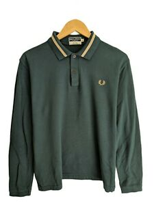 Fred Perry mens polo shirt long sleeve sportswear reissues made in england large