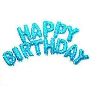 "BULK WHOLESALE 16"" BLUE+STAR HELIUM HAPPY BIRTHDAY LETTER BALLOONS SHOPS EVENTS"