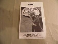 Street Smart Basketball by Epyx Instruction Manual / Free Domestic Shipping