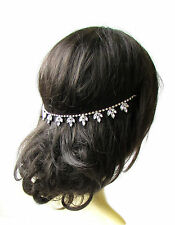 Silver Art Deco Bridal Headpiece Hair Vine Headband Diamante Rhinestone 20s 2022