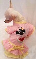 Dog Dress/dog clothes/dog shirt/Ant & Watermelon Picnic Dress XS,S,M,L FREE SHIP