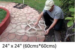 "60x60 cm 24x24"" Big Garden Paving Pavement Walk Maker Mold DIY Stone Path Mould"