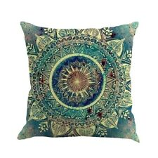 Blue White Bohemia Painting Linen Pillow Case Sofa Home Decorative Pillows Cover
