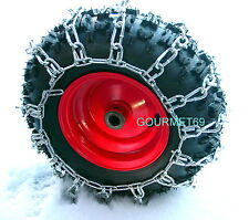 Chaines p. Chasse neige, TRACTEUR TONDEUSE 13 x 5 x 6