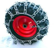 Chaines p. Chasse neige, TRACTEUR TONDEUSE 18 x 8,5 x 8  pneu 14x6x6