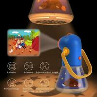 Portable Projector light Torch Toy Tales Story Book Set Baby mini Theater