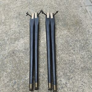 """Set Of 4 Vintage Retro Bolt nut Table Legs  """"  28.5 inches tall"""