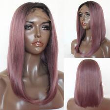 Brazilian Synthetic Lace Front Wig Fashion Women's Short Bob Ombre Purple Wigs