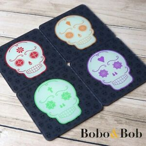Day of the Dead Sugar Skull Coasters - Halloween - Gothic - Acrylic - 4 Colours