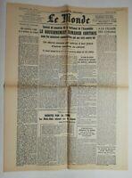 N751 La Une Du Journal Le Monde 6 mai 1947 gouvernement ramadier