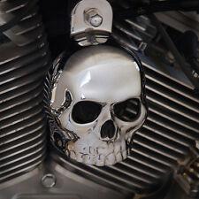 Show chrome skull horn cover.  Harley Davidson. SKU-CB2-2