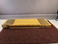 """Vintage Wood Lufkin Ruler Red End X48 Extension Folding Joints 96"""" Nice Shape!"""
