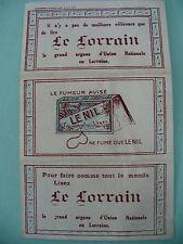 """Ancien Cahier de papier à cigarettes publicitaire """" Le Lorrain"""" Tabac Journaux"""