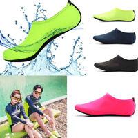 Männer Frauen Wasser Schuhe Aqua Beach Socken Yoga Pool Swim Slip On Surf K F9M5