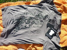 ST LENNY  GREY GRIM REAPER TEE T-SHIRT SIZE  LARGE.NEW W TAGS