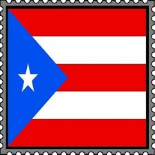 30 Custom Puerto Rico Flag Stamp Art Personalized Address Labels