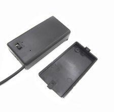 9V Volt PP3 Battery Holder Case Box ON/OFF Switch Cover DC 5.5/2.1mm Plug