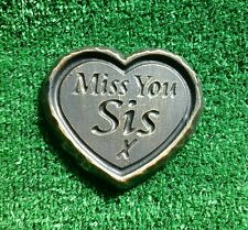 Sis GRAVE SIDE TRIBUTE GARDEN MEMORIAL HANDMADE NATURAL STONE HEART  romove