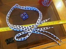 White Black Skull & Crossbones Pirate Shoelaces Lases Laces Flirt New Shoe