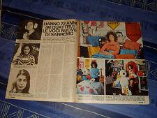 MARCELLA BELLA CARLA BISSI DELIA GUALTIERO clipping articolo foto photo 1972