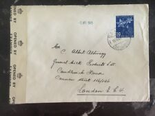 1945 Basel Switzerland censored cover to General Milk Products London England