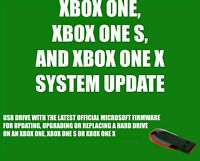XBOX ONE UPDATE INSTALL USB FLASH DRIVE LATEST OFFICIAL MICROSOFT FIRMWARE FW